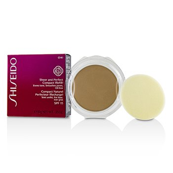 Shiseido Sheer & Perfect Base Compacta SPF15 (Repuesto) - #O40 Natural Fair Orche
