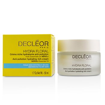 Decleor Hydra Floral Neroli Anti-Pollution Hydrating Rich Cream - Dehydrated to Dry Skin