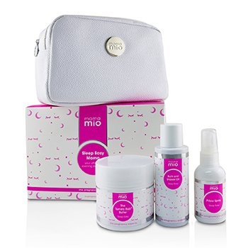 Mama Mio Kit Sleep Easy Mama: The Tummy Rub Butter  - 120g + Aceite de Baño & Ducha 100ml + Spray de Almohada 53ml + 1 Bolsa