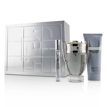 Paco Rabanne Invictus Coffret: Eau De Toilette Spray 100ml + All Over Shampoo 100ml + Eau De Toilette Spray 10ml