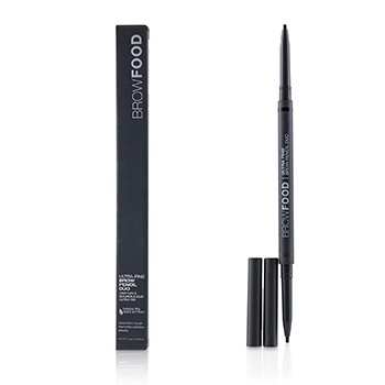LashFood BrowFood Ultra Fine Brow Pencil Duo - # Charcoal