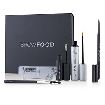 LashFood BrowFood Sistema de Transformación de Cejas - # Brunette (Light/Medium)