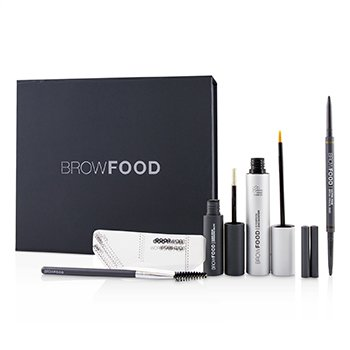 LashFood BrowFood Sistema de Transformación de Cejas - # Dark Brunette (Medium/Dark)