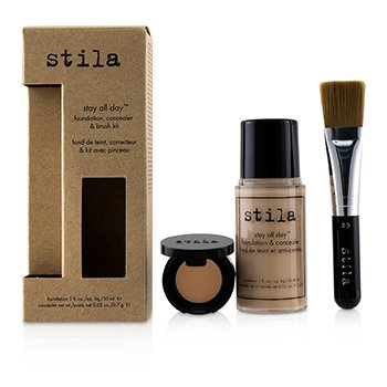 Stila Kit Stay All Day Base, Corrector & Brocha - # 1 Bare