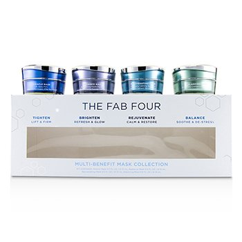 HydroPeptide The Fab Four Multi-Benefit Colección de Mascarillas: Mascarilla Milagro + Mascarilla Resplandor + Mascarilla Rejuvenecedora + Mascarilla Balanceadora