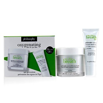 Philosophy Take A Deep Breath Oxygenating Dúo de Rostro & Ojos: Gel Crema Facial 60ml + Gel Crema de Ojos 15ml