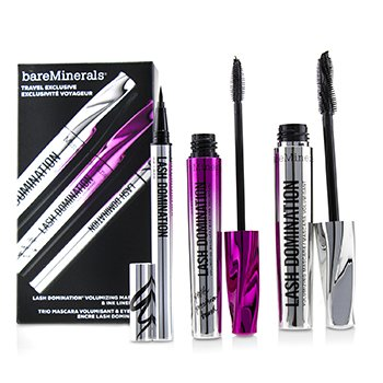 Bare Escentuals Lash Domination Volumizing Mascara & Ink Liner Trio (2x Mascara, 1x Eyeliner)