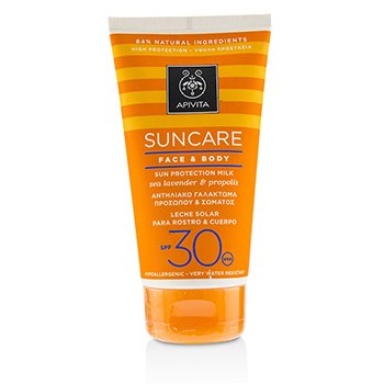 Apivita Suncare Face & Body Sun Protection Milk SPF 30 With Sea Lavender & Propolis (Exp. Date: 12/2019)