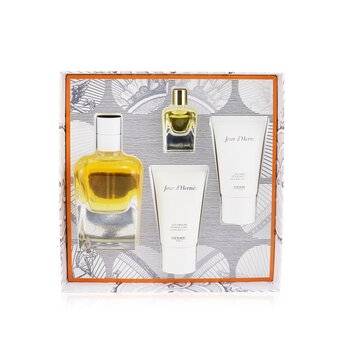 Hermes Jour DHermes Coffret: Eau De Parfum Spray 85ml + Eau De Parfum 7.5ml + Perfumed Body Lotion 30ml + Perfumed Bath And Shower Gel 30ml