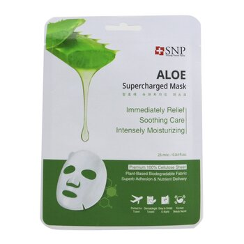 SNP Aloe Supercharged Mask (Moisture & Soothing) (Exp. Date: 08/2021)