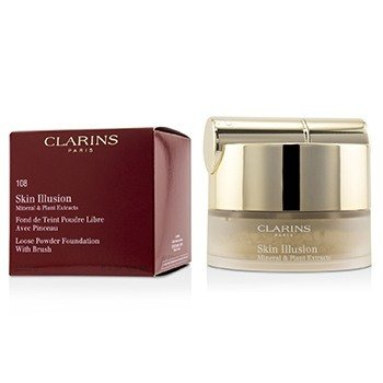 Clarins Skin Illusion Mineral & Plant Extracts Loose Powder Foundation (With Brush) (New Packaging) - # 108 Sand