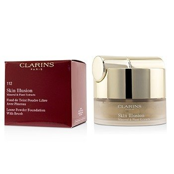 Clarins Skin Illusion Mineral & Plant Extracts Loose Powder Foundation (With Brush) (New Packaging) - # 112 Amber