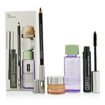 Clinique Eye Definition Set: 1x Kohl Shaper For Eyes + 1x High Impact Mascara + 1x Makeup Remover + 1x All About Eyes
