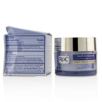 ROC Multi Correxion 5 in 1 Chest, Neck & Face Cream With Sunscreen Broad Spectrum SPF30 (Box Slightly Damaged)