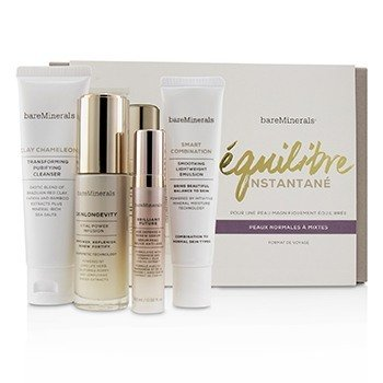 BareMinerals Balance To-Go Started Kit (Normal to Combination Skin): Clay Chameleon+Skinlongevity+Brilliant Future+Smart Combination